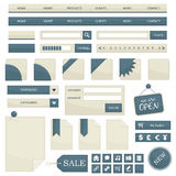 Objetos del Web Imagenes de archivo