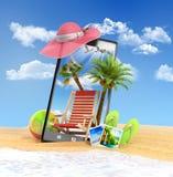 Objetos diferentes em um verão Fotografia de Stock Royalty Free
