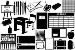 Objetos diferentes para a escola Imagens de Stock Royalty Free