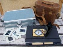Objetos diferentes para viajar imagens de stock