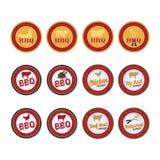 Objetos do BBQ Imagem de Stock