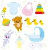 objetos do bebê ilustração stock