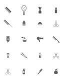 Objetos do cabeleireiro Imagem de Stock