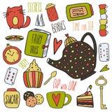 Objetos do chá Foto de Stock