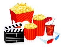 objetos do cinema 3D Foto de Stock