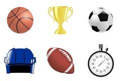 Objetos do esporte ilustração stock