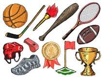 Objetos do esporte Fotografia de Stock