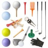 Objetos do golfe Foto de Stock