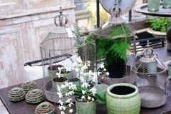 Objetos do projeto do verde do vintage Fotografia de Stock Royalty Free