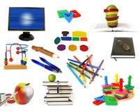 Objetos do tema da instrução isolados Imagem de Stock