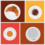 Objetos do vetor do café da manhã Fotos de Stock Royalty Free