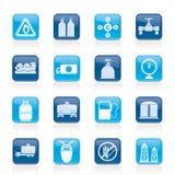 Objetos e ícones do gás natural Imagens de Stock