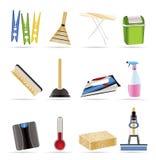 Objetos e iconos caseros de las herramientas Imagen de archivo libre de regalías