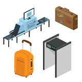 Objetos en un aeropuerto Parte del interior ilustración del vector