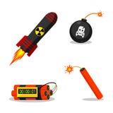 Objetos explosivos Fotos de Stock