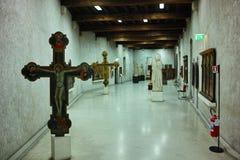 Objetos expuestos del museo de Castelvecchio Foto de archivo libre de regalías
