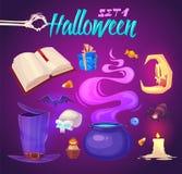 Objetos fantasmagóricos de Halloween Ilustración del vector libre illustration