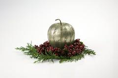 Objetos festivos da estação da decoração do Natal foto de stock