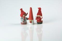Objetos festivos das decorações do Natal da estação imagem de stock royalty free