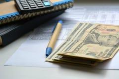 Objetos financieros Fotos de archivo libres de regalías
