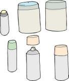 Objetos genéricos del desodorante Foto de archivo libre de regalías