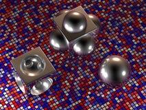 Objetos geométricos - 3D Foto de archivo