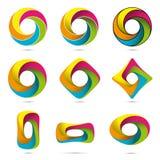 Objetos imposibles infinitos coloridos fijados Foto de archivo