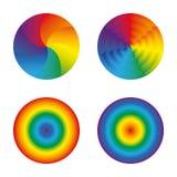 Objetos isolados ajustados círculos do arco-íris Imagem de Stock