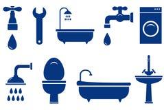 Objetos isolados do banho no fundo branco Imagens de Stock