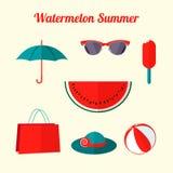 Objetos lisos do verão Fotografia de Stock