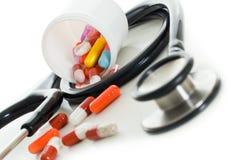 Objetos médicos foto de stock