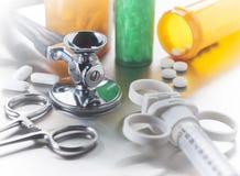 Objetos médicos de la atención sanitaria Fotografía de archivo libre de regalías