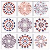 Objetos neutros abstratos ajustados Imagem de Stock