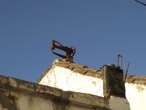 Objetos no telhado Imagem de Stock