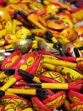 Objetos orientais do bazar - colheres Imagem de Stock