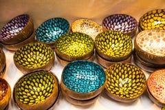 Objetos orientales para la venta en el festival del Oriente en Roma Italia foto de archivo libre de regalías