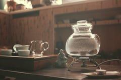 Objetos para a cerimônia de chá imagens de stock