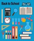 Objetos para a escola De volta ao estudo Fotografia de Stock Royalty Free