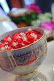 Objetos para la ceremonia de boda tailandesa imagen de archivo libre de regalías
