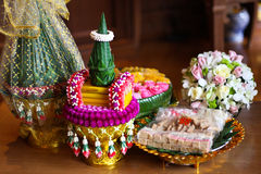 Objetos para la ceremonia de boda tailandesa Imagen de archivo