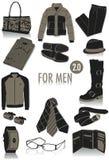 Objetos para las siluetas 2 de los hombres Fotos de archivo