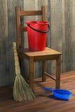 Objetos para limpiar Imagen de archivo libre de regalías
