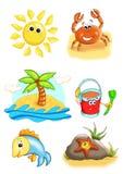 Objetos para o verão ilustração royalty free