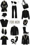 Objetos para silhuetas dos homens Fotos de Stock