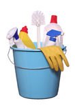 Objetos para spring-cleaning Fotografía de archivo libre de regalías