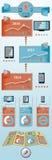 Objetos planos infographic Fotografía de archivo libre de regalías