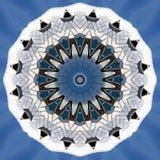 Objetos prateados do metal vistos através do caleidoscópio Fotografia de Stock Royalty Free
