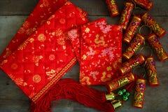 Objetos preparados por un Año Nuevo chino Foto de archivo