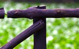 Objetos pretos de bambu com a fotografia do fundo natural Fotografia de Stock Royalty Free