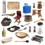 Objetos relacionados de la cocina Foto de archivo